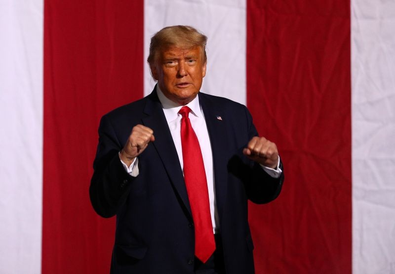U.S. President Donald Trump holds a campaign rally in Gastonia, North Carolina, U.S., October 21, 2020. (REUTERS Photo)