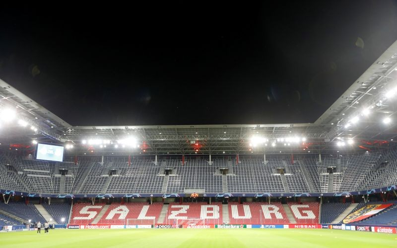 FILE PHOTO: General view inside the stadium before the match REUTERS/Leonhard Foeger/File Photo