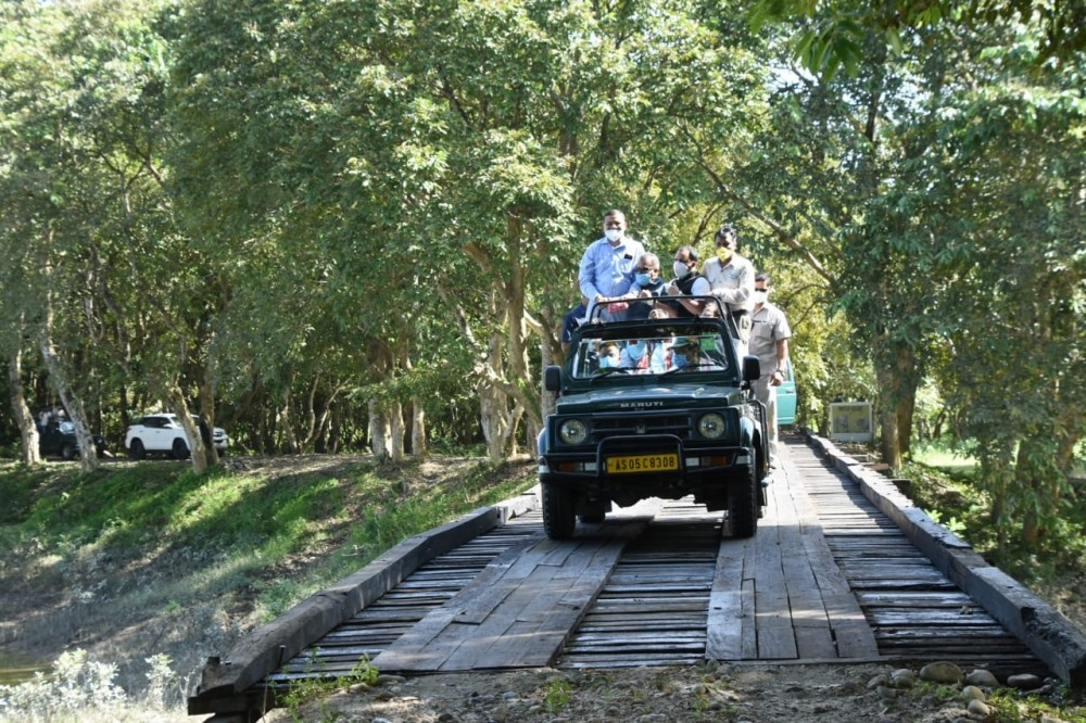 After 7 months, world fame Kaziranga National Park in Assam opens for tourists. (IANS Photo)