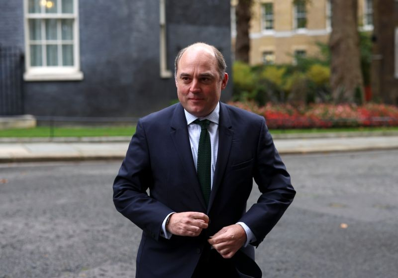 Britain's Defence Secretary Ben Wallace arrives for a cabinet meeting, in London, Britain October 13, 2020. (REUTERS File Photo)