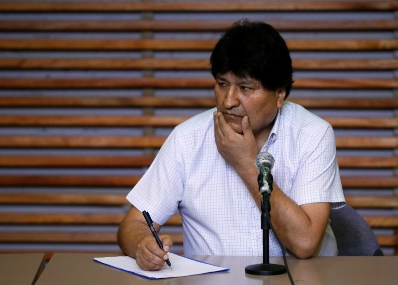 Former Bolivian President Evo Morales attends a news conference in Buenos Aires, Argentina October 22, 2020. (REUTERS File Photo)