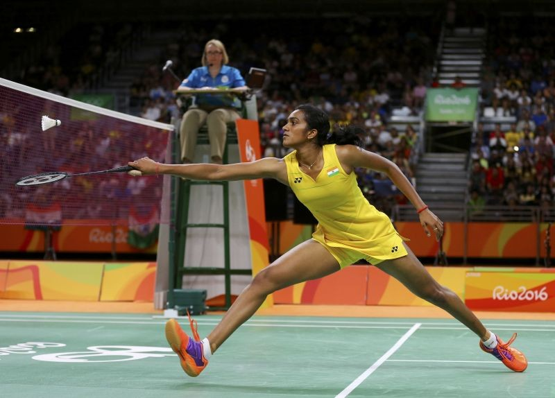 File Photo: P.V. Sindhu (IND) of India plays against Carolina Marin (ESP) of Spain. REUTERS/Marcelo del Pozo Picture Supplied by Action Images/File Photo