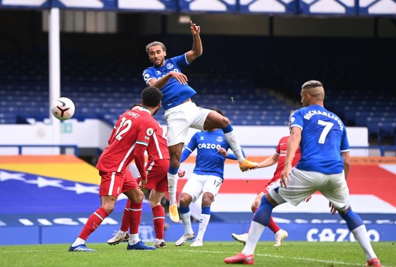 Everton's Dominic Calvert-Lewin scores their second goal Pool via REUTERS/Laurence Griffiths