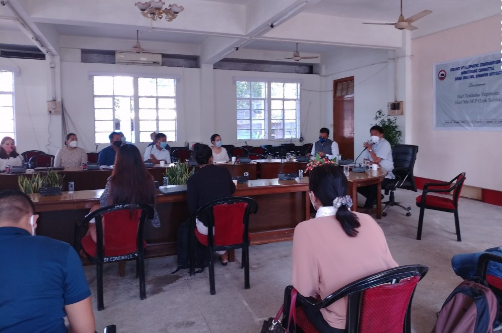 Attendees during the Dimapur District Coordination and Monitoring Committee (DISHA) meeting on October 26. (DIPR Photo)