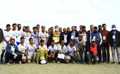 Winners of the Winter Cup organised by Fusion Club DC Hill Zunheboto at Zunheboto District Sports Complex ground from November 23 to 28.