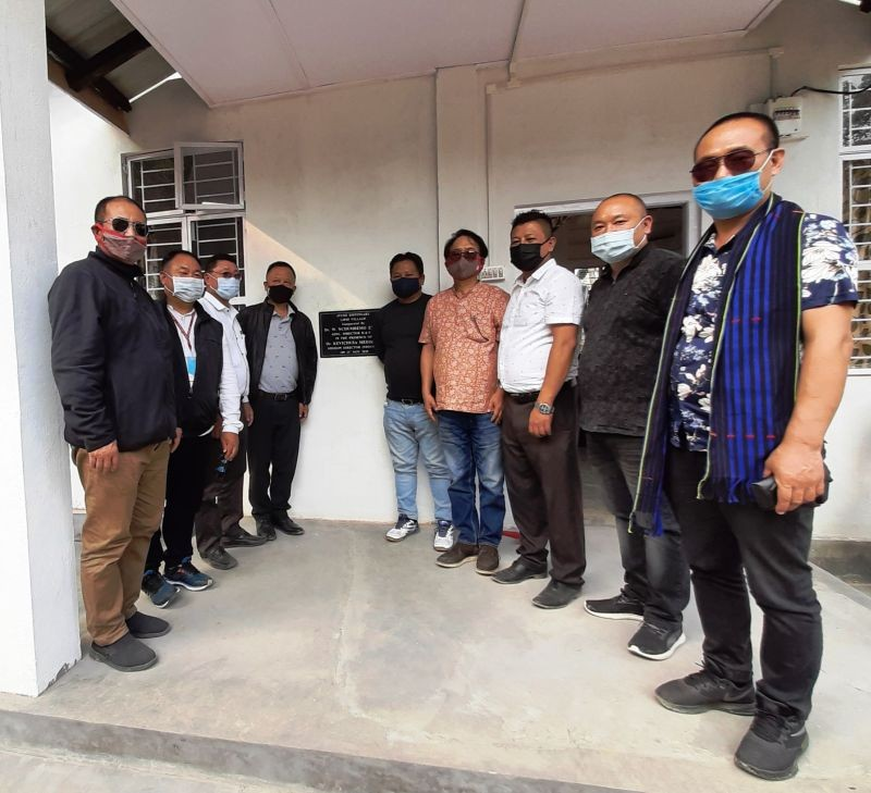 Dr W Nchumbemo Ezung, Dr Kevichusa Medikhru and Medical Directorate officials at the inauguration of Liphi Ayush Dispensary in Wokha district.