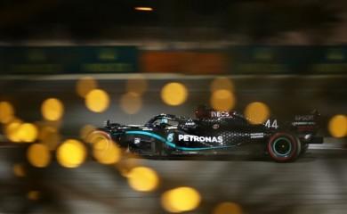 Mercedes' Lewis Hamilton during qualifying Pool via REUTERS/Tolga Bozoglu