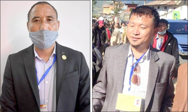(Left) NDPP candidate for 14- Southern Angami-I AC  Medo Yhokha (Right) Independent Candidate for 60 Pungro-Kiphire AC T Yangseo Sangtam