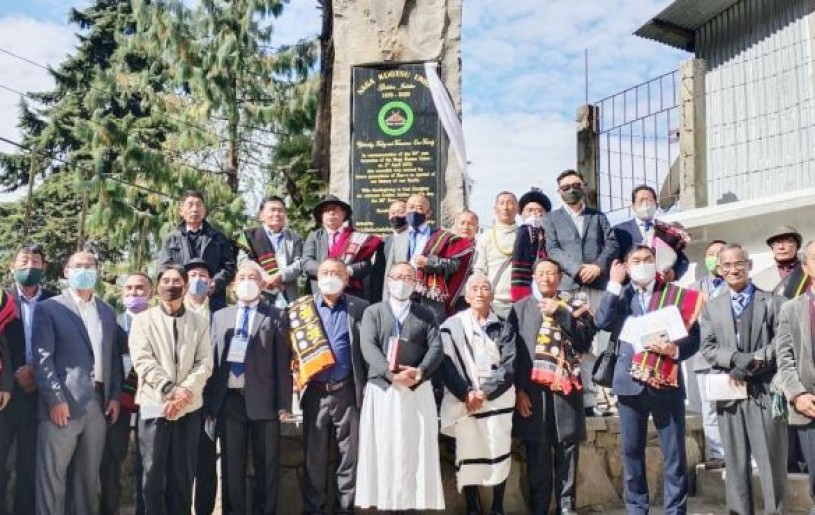 Naga Kuotsu Union leaders and others during golden jubilee celebration in Kohima on November 28.