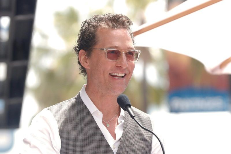 FILE PHOTO: Actor Matthew McConaughey speaks during a ceremony in Los Angeles, California, U.S., May 22, 2019.  REUTERS/Mario Anzuoni/File Photo
