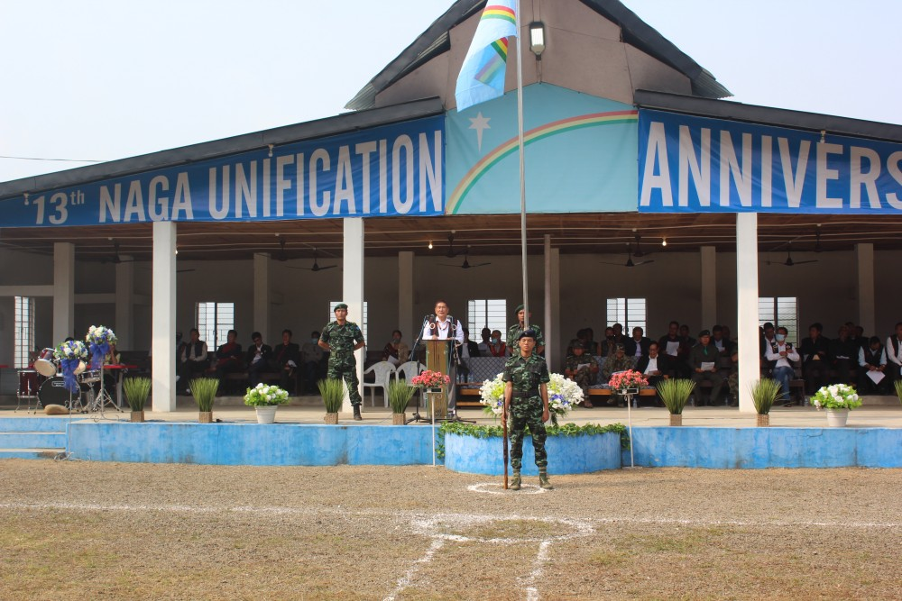 The 13th Unification Day at the GPRN/NSCN's Council Headquarter, Khehoi designated camp on November 22. (Photo Courtesy: MIP, GPRN/NSCN)