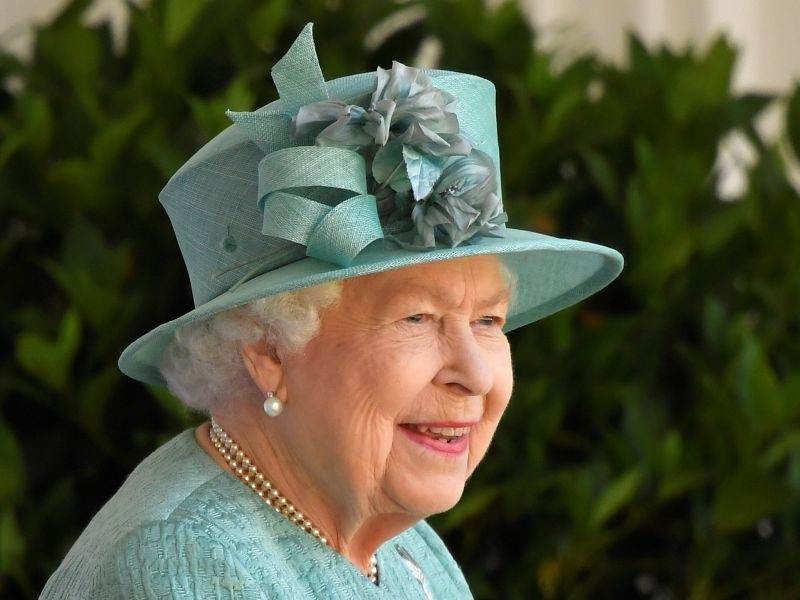 Britain's Queen Elizabeth attends a ceremony to mark her official birthday at Windsor Castle in Windsor, Britain, June 13, 2020. The Queen celebrates her 94th birthday this year. REUTERS/Toby Melville/Pool