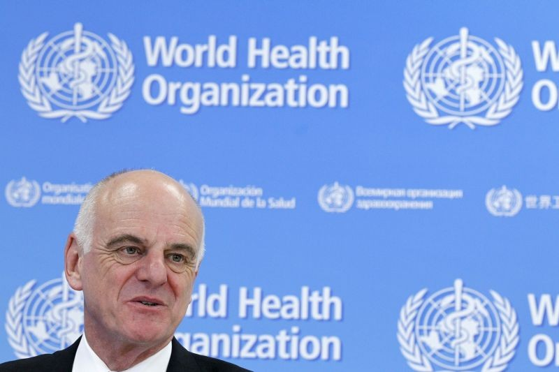 U.N. Secretary-General's Special Envoy for Ebola David Nabarro addresses the media on World Health Organization (WHO)'s health emergency preparedness and response capacities in Geneva, Switzerland, July 31, 2015. (REUTERS File photo)