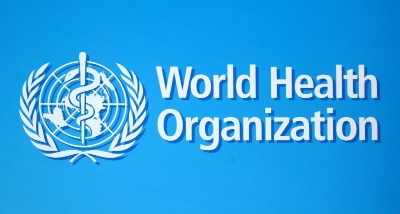 A logo of the World Health Organization (WHO), is seen before a news conference in Geneva, Switzerland, June 25, 2020. (REUTERS File Photo)