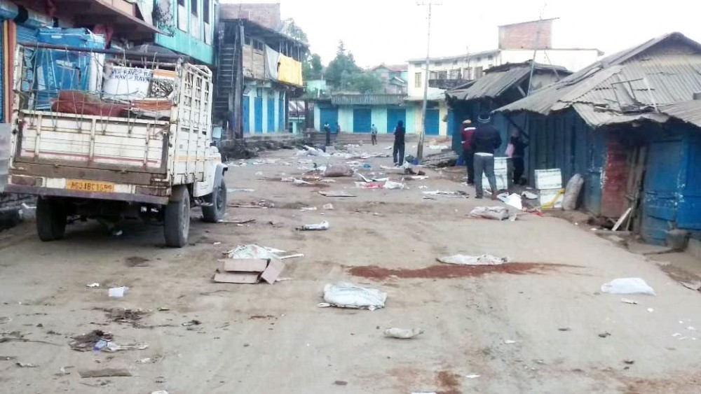 The streets in Longleng wear a deserted look as the ENSF continued its agitation on December 3.