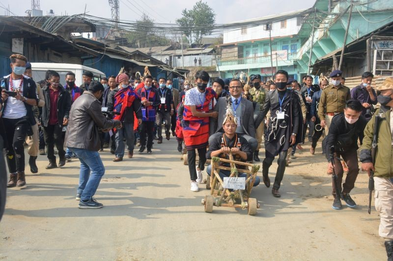 The Chang community celebrated Poang Lüm, the premier festival of the Chang Nagas, on January 12 at Loyem Memorial Ground in Tuensang town. (Morung Photo)