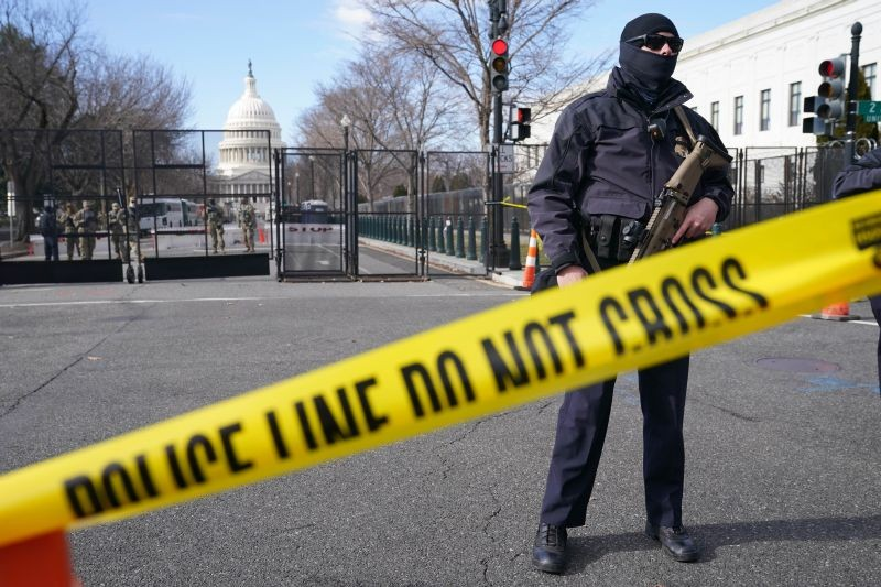 Security is increased around the Capitol ahead of the inauguration of President-elect Joe Biden and Vice President-elect Kamala Harris on January 17, 2021, in Washington. (AP/PTI Photo)