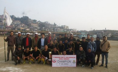 Winners of the 27 Mokokchung A/C football tournament which concluded on January 14.