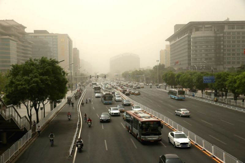 Orange alert in northern China over air pollution concerns. (IANS Photo)