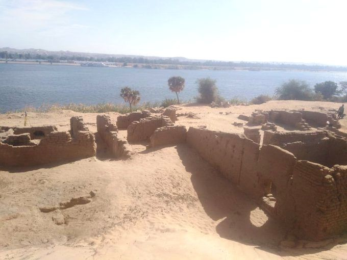 Remains of Roman fort unearthed in Egypt's Aswan (twitter.com/DailyNewsEgypt/ ANS Photo)