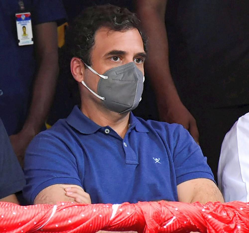 Congress leader Rahul Gandhi witnesses 'Jallikattu' at Avaniyapuram in Madurai. Photograph: PTI Photo