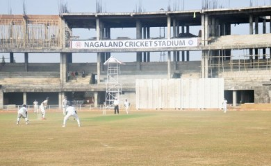 A match in action on the first day of the Late G Rio Memorial U-19 (Boys) inter district tournament on January 18.