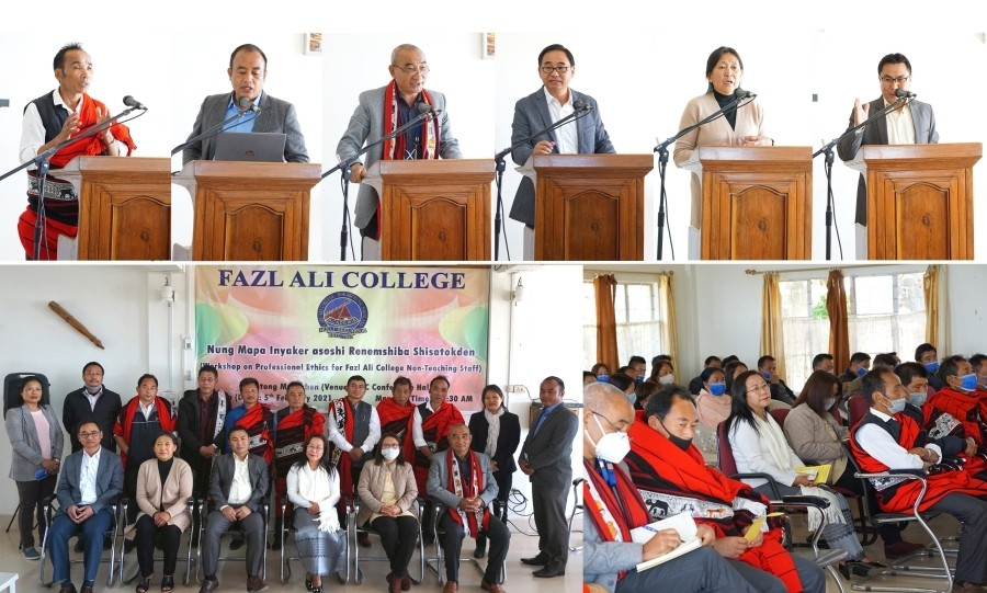 Participants and resource persons during the workshop conducted by Fazl Ali College on February 5.