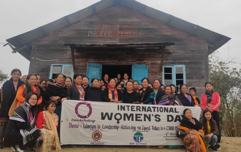 Participants during the observance of International Women's Day 2021 held at Phekerkriema on March 8. (Photo Courtesy: NEN)