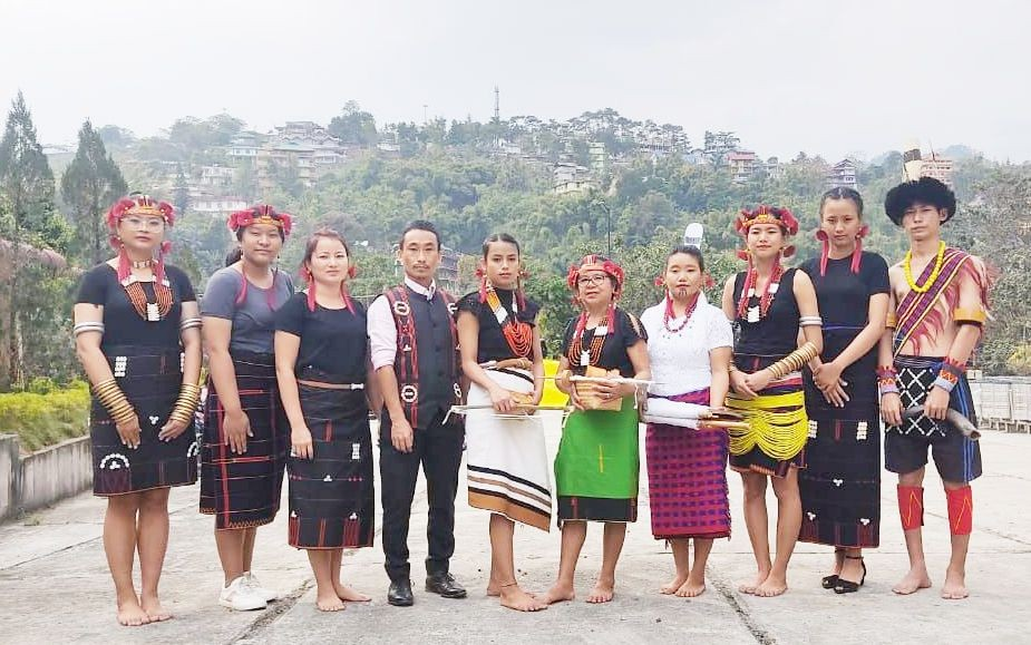 Specially-abled artists from Nagaland in the 'Divya Kala Shakti: Witnessing the Abilities in Disabilities' event held at Dorjee Khandu Convention Center in Arunachal Pradesh on March 4.