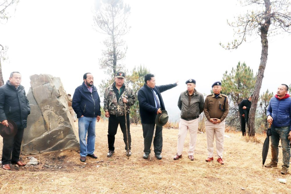 Nagaland Deputy CM Y Patton during his visit to the Chida post on March 6. (Photo Courtesy: Dy CMO Media Cell)