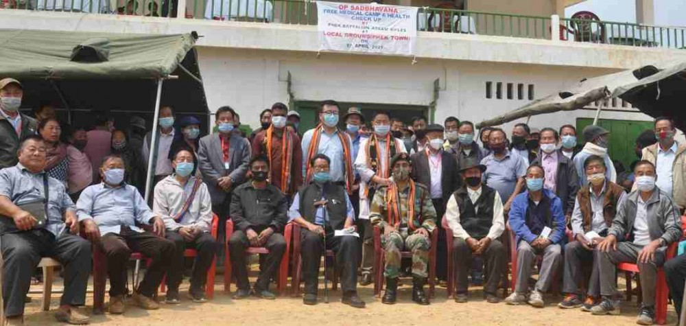 Free medical camp for old aged and pensioners under the theme 'OP SADBHAVANA' was conducted at Phek town local ground on April 7. (DIPR Photo)