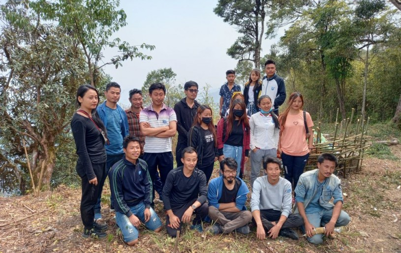 Organizers of the cleaning trek organised to Mt Tiyi, Wokha on April 10.