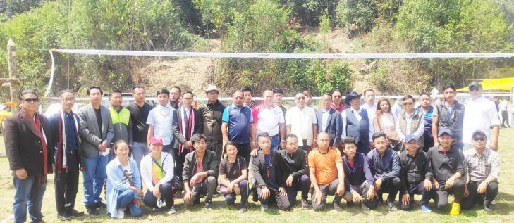 Participants of the 2nd TA volleyball tournament which kicked off on April 9.
