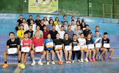 Participants of the TSUD sports meet which concluded on April 15.