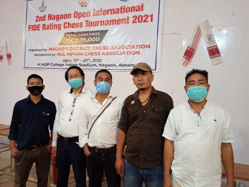 Players from Nagaland at the 2nd Nagaon Open International FIDE Rating Chess Tournament 2021.