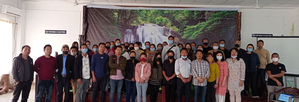 Resource persons along with the participants of the training on use of IHIP in Phek district.