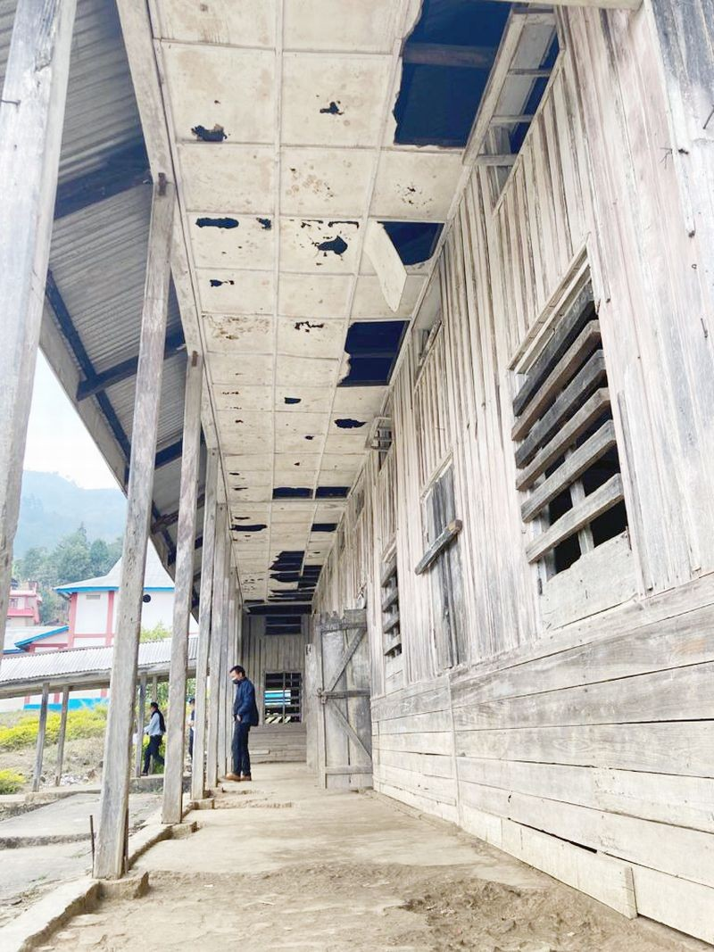 The GHSS in Wokha town, which was constructed in 1968 is in a state of disrepair. (Photo Courtesy: LSU)
