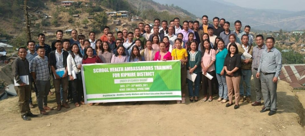 Resource persons, along with the participants pose for lens in Kiphire.