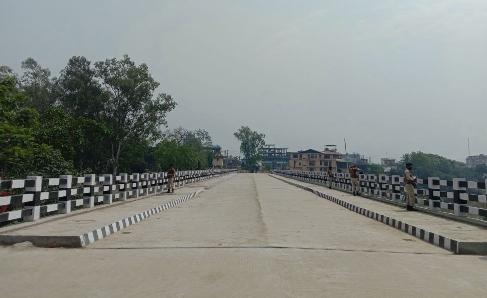 The newest and third 2-lane RCC T beam bridge spanning 98m across the Dhansiri in Dimapur directly connecting Walford and Naga Shopping Arcade with Purana Bazaar was opened on April 13. (Morung Photo)