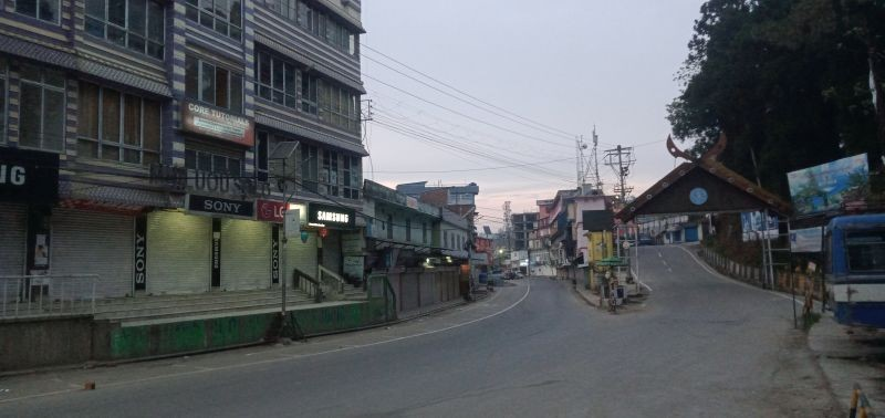 Nagaland's state capital Kohima wears a deserted look on May 9. The government announced a full lockdown in the State from May 14 to curb the spread of COVID-19. (Morung File Photo)