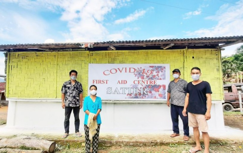 Residents of Satier sector under Mokokchung district have come together to set up a COVID-19 first aid centre.