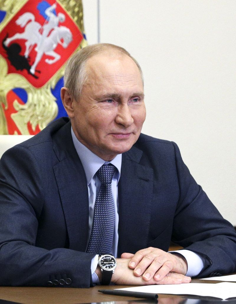 Russian President Vladimir Putin attends a meeting via video conference at the Novo-Ogaryovo residence outside Moscow, Russia on June 8, 2021. (AP/PTI File Photo)