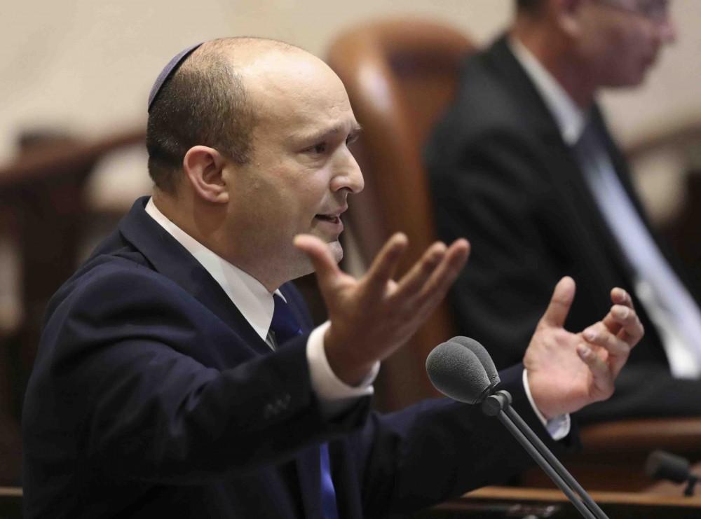 Israels designated new prime minister, Naftali Bennett speaks during a Knesset session in Jerusalem Sunday | PTI