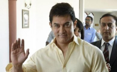 Actor Aamir Khan arrives for 'Mumkin Hai', a special segment of 'Satyamev Jayate', in Bhopal. PTI Photo