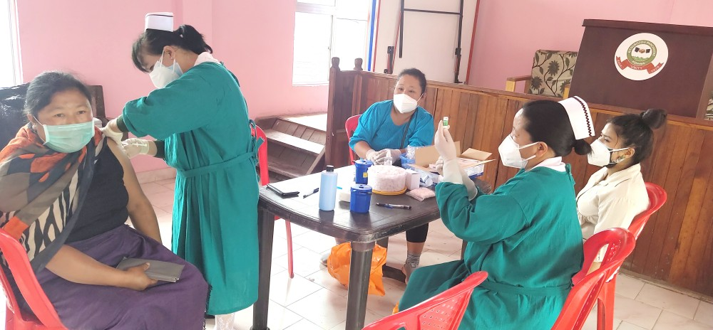Vaccination drive at Kitsubozou on June 11.