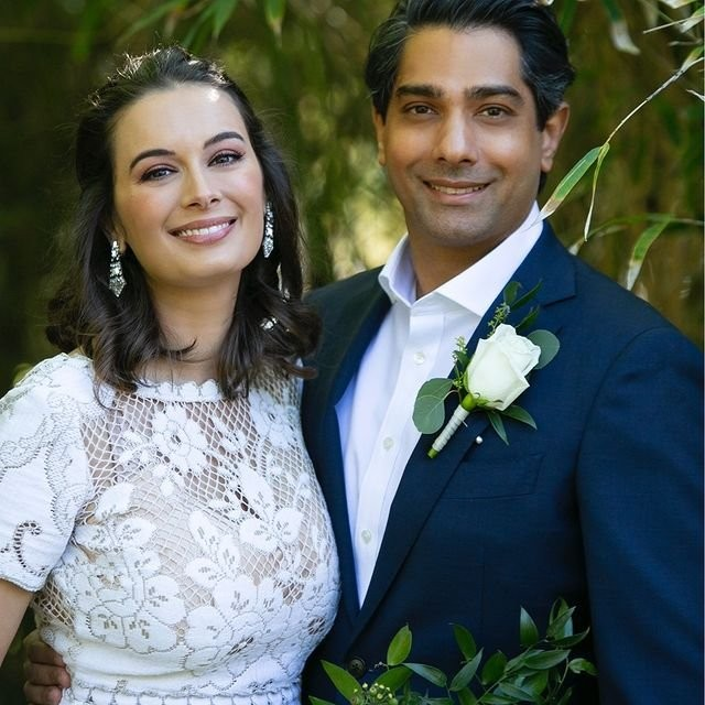 Evelyn Sharma ties the knot with Tushaan Bhindi. Image Source: Instagram/evelyn_sharma