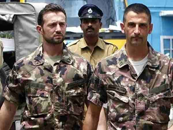 Italian marines Massimiliano Latorre and Salvatore Girone charged in India with the killing two fishermen while off Kerala coast in 2012  |  Photo Credit: PTI File