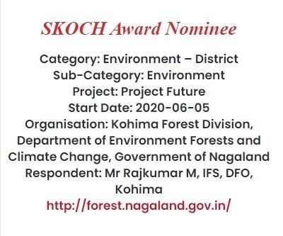 Kohima Forest Division shortlisted for SKOCH Award