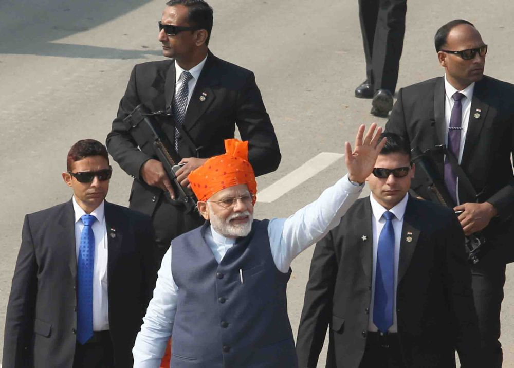 56.4% ''very satisfied'' with BJP, 70% will re-elect Modi PM