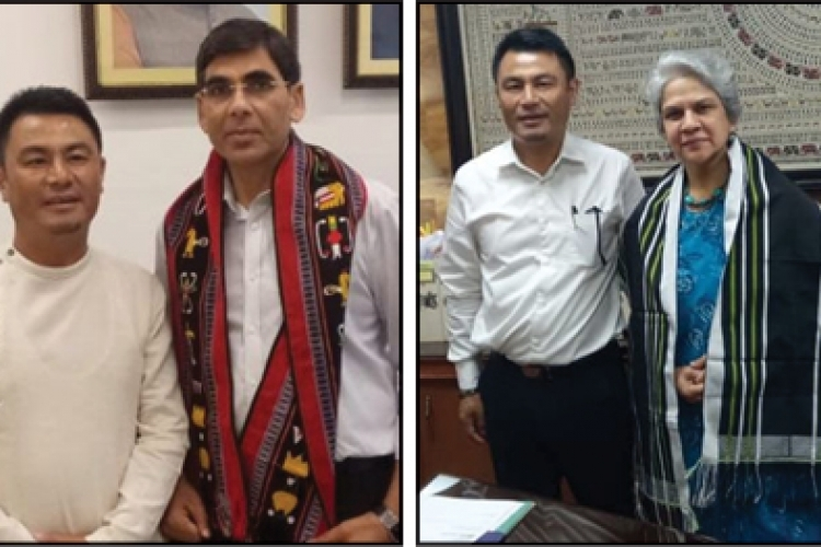 Er. Neikha meet Ministry of Youth Affairs & Sports officials in Delhi